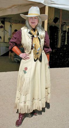 American frontier women in the late 1800's began wearing practical buckskin skirts and vests. Our handmade cowgirl clothing is made from quality deerskin.