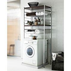 モダンなデザインがおしゃれな洗濯機上収納です。洗面所収納やランドリー収納を増やしたい方におすすめ。引き出し付きだからタオル収納や衣類収納にもお使いいただけます。