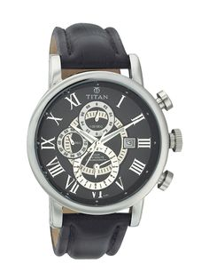 Titan Orion ; Leather strap, Stainless Steel case; 8995