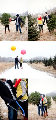 Winter engagement pics