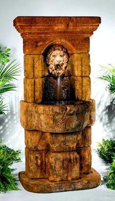 Linari Lion Fountain, 9 Pc