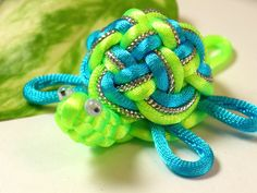 Chinese Knots Turtle | Chinese Knot Sea Turtle Keychain - Bright Green & Sky Blue - as ...