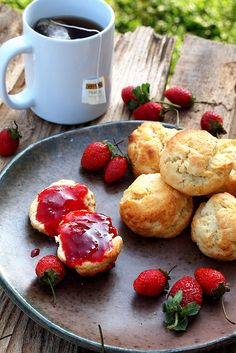 Homemade Strawberry Jam + Scones