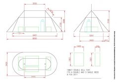 Family size double Bell tent layout