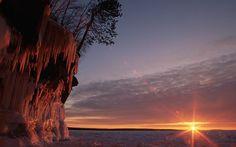 Wisconsin cueva de hielo del lago fondos de escritorio 1920x1080 superiores