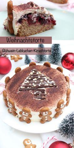 Diese weihnachtliche Glühwein-Lebkuchen-Kirschtorte ist genau das Richtige für die Festtage. Er besteht aus 3 leckeren Kuchenschichten, einem lockeren Lebkuchenteig, einer hausgemachten Glühwein-Kirsch-Füllung und einer sahnigen Ummantelung. Diese Glühwein-Lebkuchen-Kirschtorte steckt voller wunderbaren Aromen und zergeht auf der Zunge. Ihr müsst diese Weihnachtstorte unbedingt probieren! #weihnachten #Weihnachtstorte #backen #einfach #lecker #schnell #deutsch #rezepte Tiramisu, Sweets, Fall, Winter, Ethnic Recipes, Holiday, Cherries, Food Food, Autumn