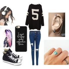 Casual by noely-jones on Polyvore featuring Converse, Casetify and Skinnydip