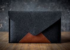 Items similar to MacBook AIR case clutch cow italian leather merino wool felt top protection timeless design zipper pocket on Etsy Macbook Air Bag, Macbook Sleeve, Leather Laptop Case, Leather Pouch, Diy Clutch, Clutch Wallet, Leather Bags Handmade, Leather Craft, Craft Bags