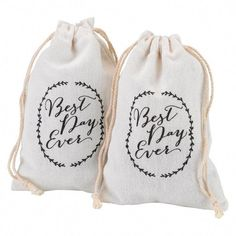 Best Day Ever Rustic Vines Cotton Favor Bag (Set of Vintage Wedding Favors, Winter Wedding Favors, Creative Wedding Favors, Inexpensive Wedding Favors, Elegant Wedding Favors, Wedding Favor Bags, Wedding Favors For Guests, Wedding Gifts, Rustic Wedding