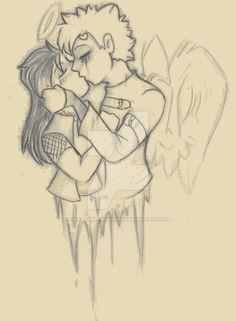 Kira and Gaara: kiss