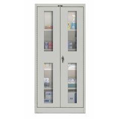 Hallowell 800 Series 2 Door Storage Cabinet Color: Platinum Antimicrobial