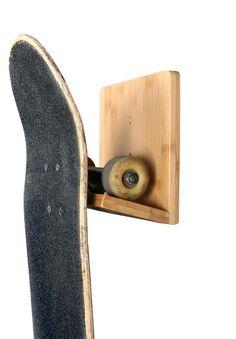 New! Bamboo Skateboard Wall Rack