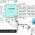 Circuit design of stereo audio amplifier using inexpensive transistor and Part list and PCB design layout and power supply provided. Diy Amplifier, Car Audio Amplifier, Hifi Audio, Diy Subwoofer, Circuit Design, Circuit Diagram, Circuit Board, Audio System, Layout Design