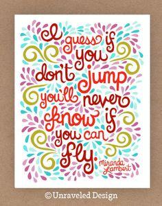 Miranda Lambert Quote Illustration, Unraveled Design.