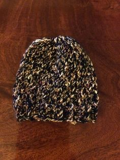 Hand knit soft brown newborn baby hat #madewithlove