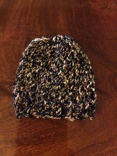 Hand knit soft brown newborn baby hat #madewithlove