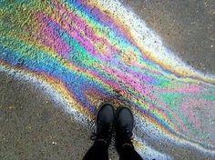 -Se guardi per terra no troverai mai un arcobaleno-