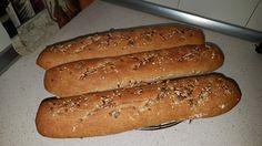 Baguettes integrales con semillas