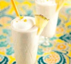 Healthy Hawaiian Blizzard Ingredients: 1 cup fresh pineapple chunks 1 cup unsweetened coconut milk 1 banana 1/4 cup ice cubes… 2 teaspoons honey, optional pineapple wedges, for garnish Instructions: In a blender, combine the pineapple chunks, coconut milk, banana, ice and, if desired, honey. Puree until smooth. Pour into 2 large glasses. Garnish each serving with a pineapple wedge.