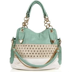 Mint Rhinestone Handbag (130 BRL) ❤ liked on Polyvore featuring bags, handbags, purses, bolsas, accessories, mint, hand bags, rhinestone handbags purses, green handbags and mint purse