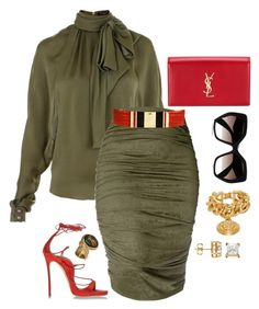 Keep it classy by fashionkill21 on Polyvore featuring polyvore, fashion, style, Balmain, Dsquared2, Yves Saint Laurent, Versace and Prada