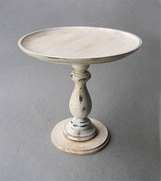 Distressed Wooden Cake Stand Cake Plate