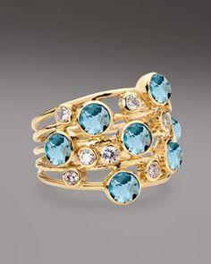 Topaz & Diamond Constellation Ring by Ippolita