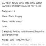 If Nico had landed on Ogygia instead of Leo...   ......................