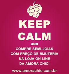 Semi-joias com preço de bijuteria você só encontra na loja on-line da Amora Chic: www.amorachic.com.br