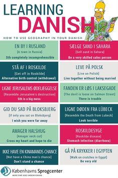Speak Danish, Danish Words, Visit Denmark, Denmark Travel, Danish Language, Danish Christmas, Language Study, Geography, Good To Know