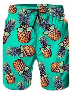Trum Namii Boys Quick Dry Swim Trunks Unicorn and Ice Cream Shorts