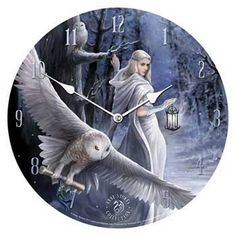 """Midnight Messenger clock 13"""" Come and check out our new products on our website at http://www.blackmagic1313.com and sign up at our website for updates. We have over 6000 products and something for everyone. Remember Mothers Day is coming so start shopping now."""