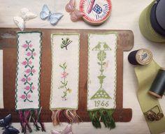 Rollo Stock です。 春色の刺繍モチーフ、ショーケースに出しました。 まだまだ寒いですが、春色のリボンや白いレースご用意してます。是非お気に入りを探しにいらして下さいね。 Holland Antique刺繍モチーフ 1枚 ¥2800  #rollo #kobe #embroidery