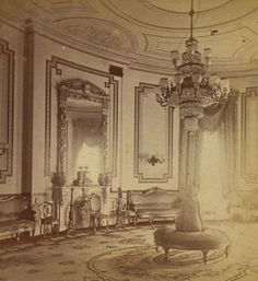 vintage Victorian room- maybe paint the walls behind  the sconces with these designs?
