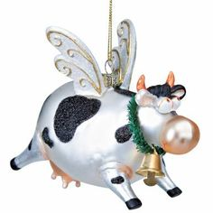 flying cow ornament  von butlers