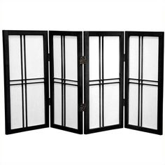 Oriental Desktop Double Cross 4 Panels Shoji Screen ($89) ❤ liked on Polyvore featuring home, home decor, panel screens, black, black home decor, shoji screen, oriental folding screen, asian screens and oriental screens