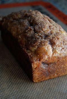 A fast and easy recipe, this sweet bread can be served for either brunch or dessert.