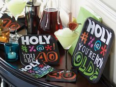 Here's a fabulous selection of party themes for 30, 40, 50, 60, 70 and beyond!