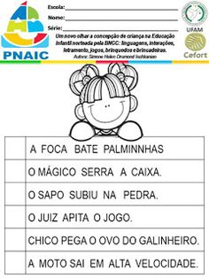 Atividades Escolares: VAMOS PLANEJAR: NOVA BNCC SEM COMPLICAÇÕES Nova, Education, 1, Activities For Students, Daycare Lesson Plans, Note Cards, Lets Go, Teaching, Onderwijs
