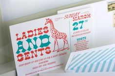 1x1.trans Red + Turquoise Circus Theme Baby Shower Invitations
