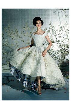Go East:Fei Fei Sun in Dior/Steven Meisel (Vogue)