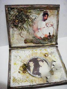 gift box for golden wedding anniversary - Caixa de presente para bodas de ouro