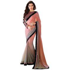 Buy Nilkanth Grey Chiffon Saree by fabnil, on Paytm, Price: Rs.798?utm_medium=pintrest