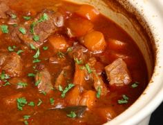 This page contains crockpot beef stew recipes. Using your crockpot is an excellent way to prepare a delicious beef stew. Slow Cook Beef Stew, Hearty Beef Stew, Slow Cooker Beef, Slow Cooker Recipes, Crockpot Recipes, Cooking Recipes, Slow Cooking, Greek Cooking, Cooking School