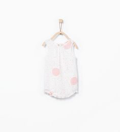 ZARA - MINI - Neon polka dot romper suit