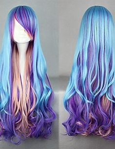 Lolita Wig Inspired by Blue and Purple and Pink Mixed Color ... – USD $ 19.99
