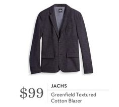 Stitch Fix for Men October 2016 - Jachs, Greenfield Textured Cotton Blazer, charcoal gray