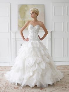 What a fun wedding dress!  #destinationwedding Val Stefani | Spring 2013 Collection