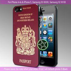 British UK Passport iPhone 4/4S/5, Samsung S4/S3/S2 cover cases   sedoyoseneng - Accessories on ArtFire