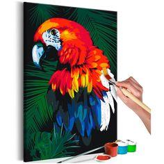 Toile, tableau, image décorative d'intérieur Fish Drawings, Art Drawings Sketches, Art Mini Toile, Images D'art, Drawings Pinterest, Parrot Painting, Black Paper Drawing, Mini Canvas Art, Sharpie Art